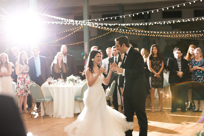 Bride and Groom First Dance. Wedding Reception photographer