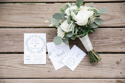 Bridal Bouquet and invitations Wedding photographer CT