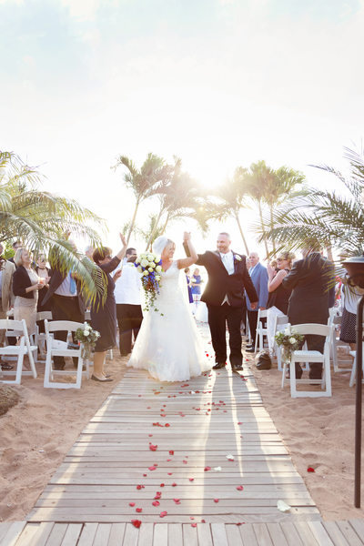 Wedding ceremony on the beach. Anthonys Ocean View Ct