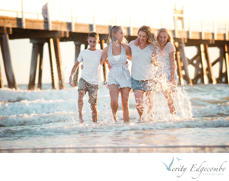 Family Photography at Beach Adelaide