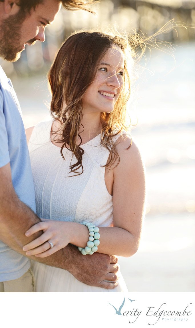 Adelaide beach engagement photos