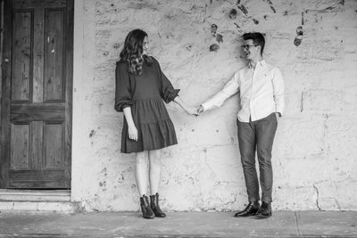 Fun Engagement Photos in the Adelaide Hills