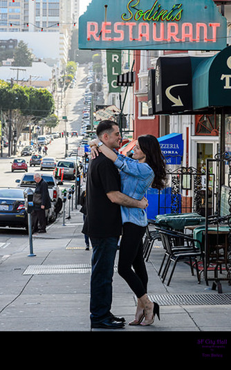 sf north beach engagement photo