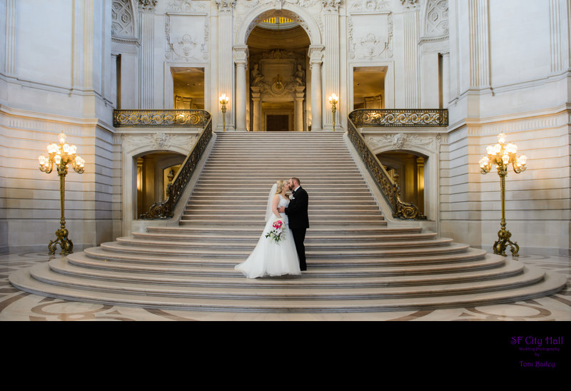 grand staircase at city hall in San Francisco