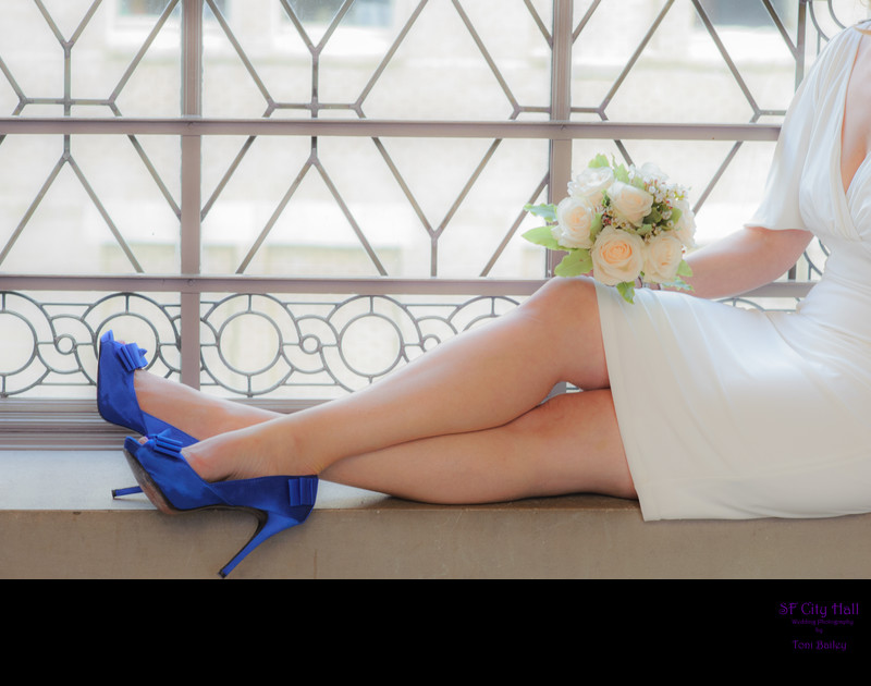 wedding blue heels