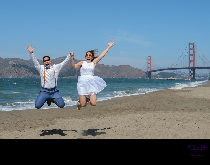 lgbtq baker beach jump photo