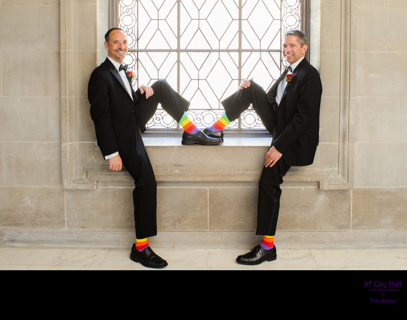 rainbow socks for same sex weddings