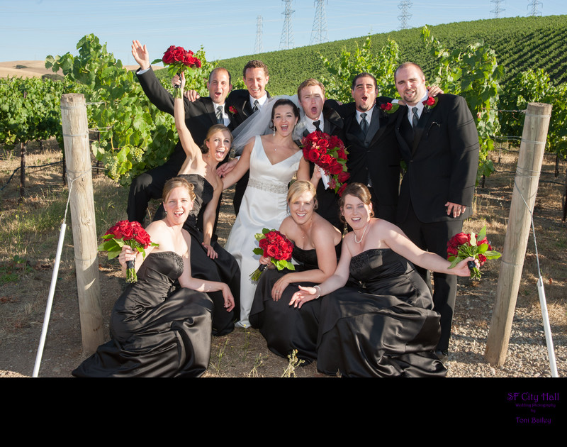 winery bridal party