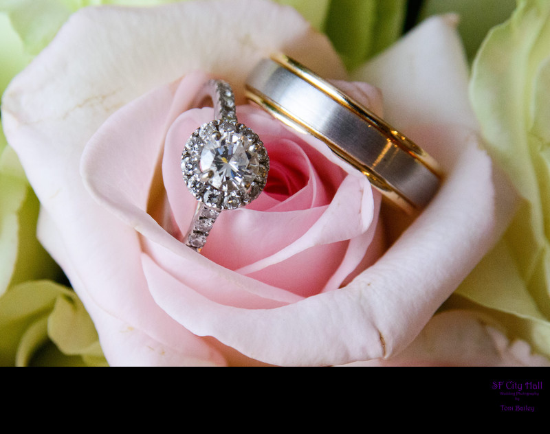 pretty rings in pink rose
