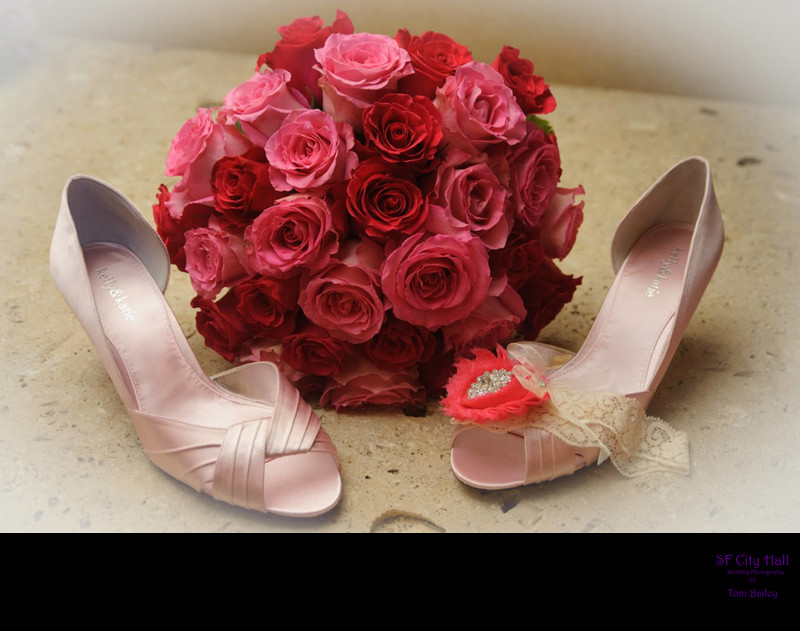 pink flowers and pink shoes