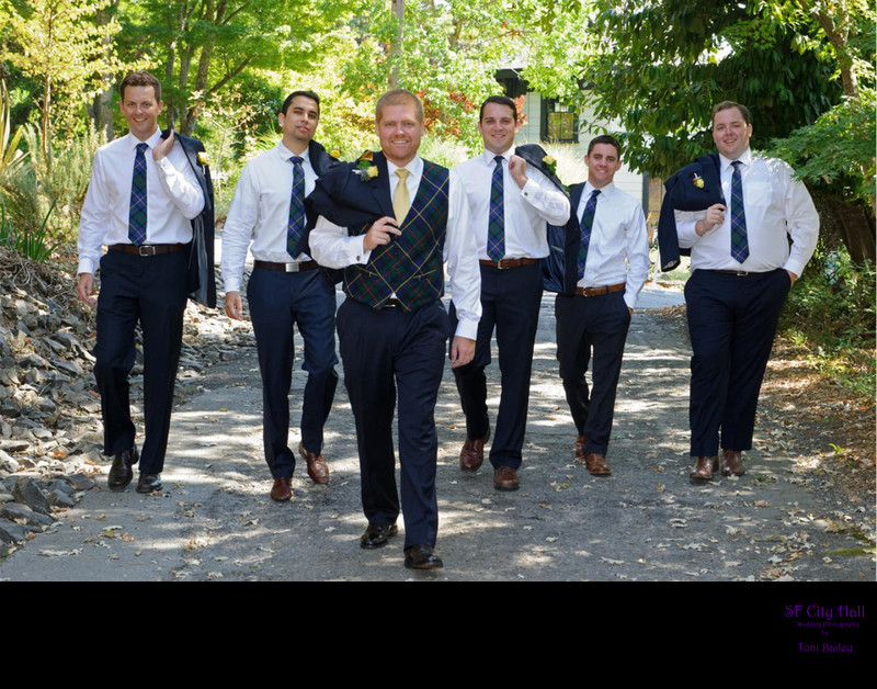 easy walk with groomsmen
