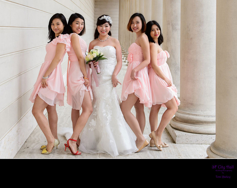 cute asian bridesmaids