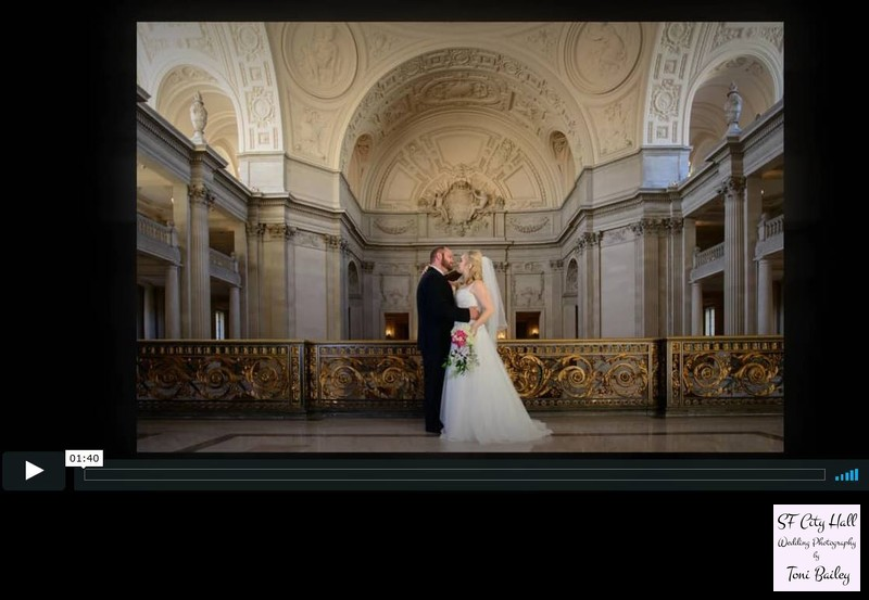 San Francisco City Hall Mayors Balcony Wedding slideshow