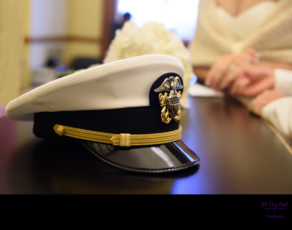 civil ceremony check in up close details of navy cover