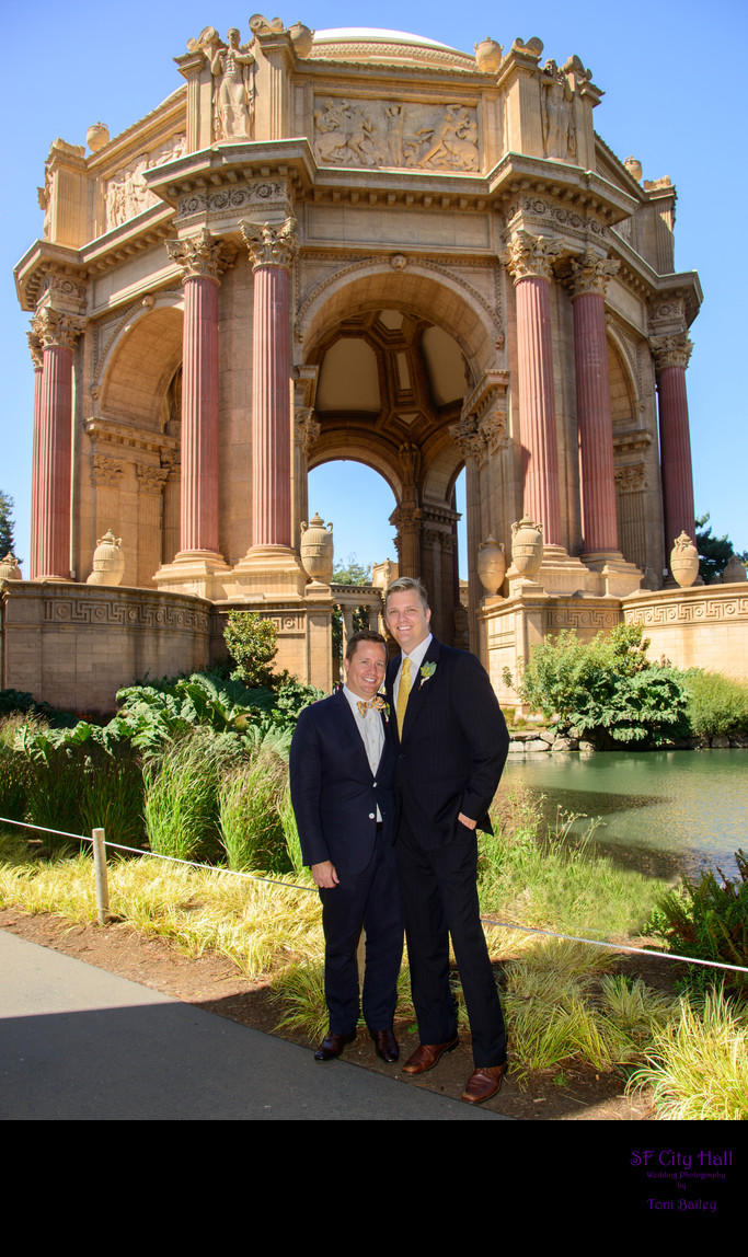 same sex photographer at palace of fine arts