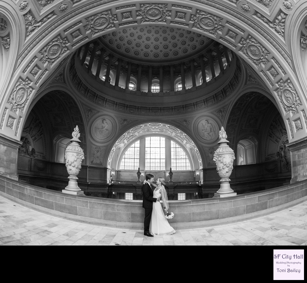 Fourth floor city hall stunning wedding photo