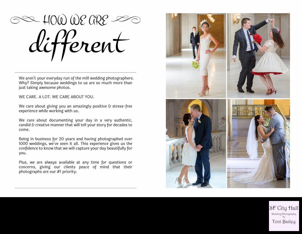 wedding guide how we are different