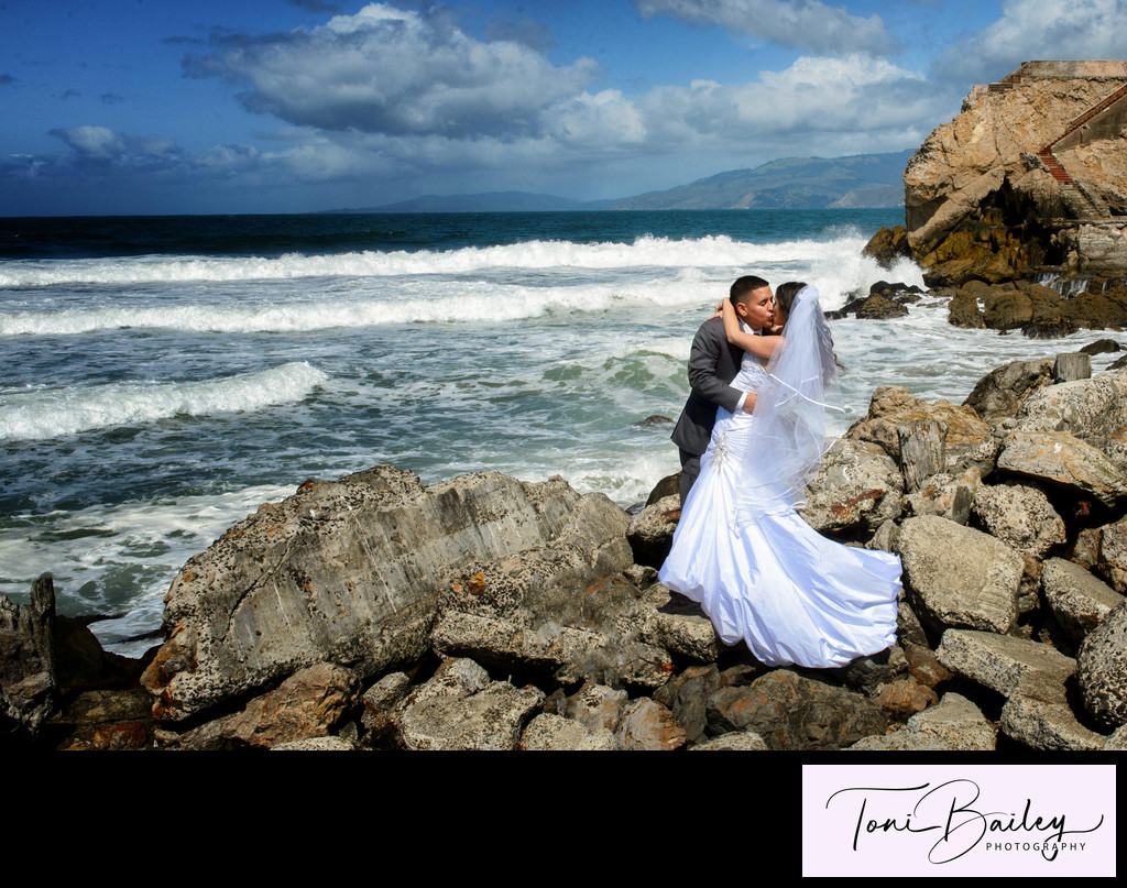 San Francisco Sutro Baths Wedding Photography Session