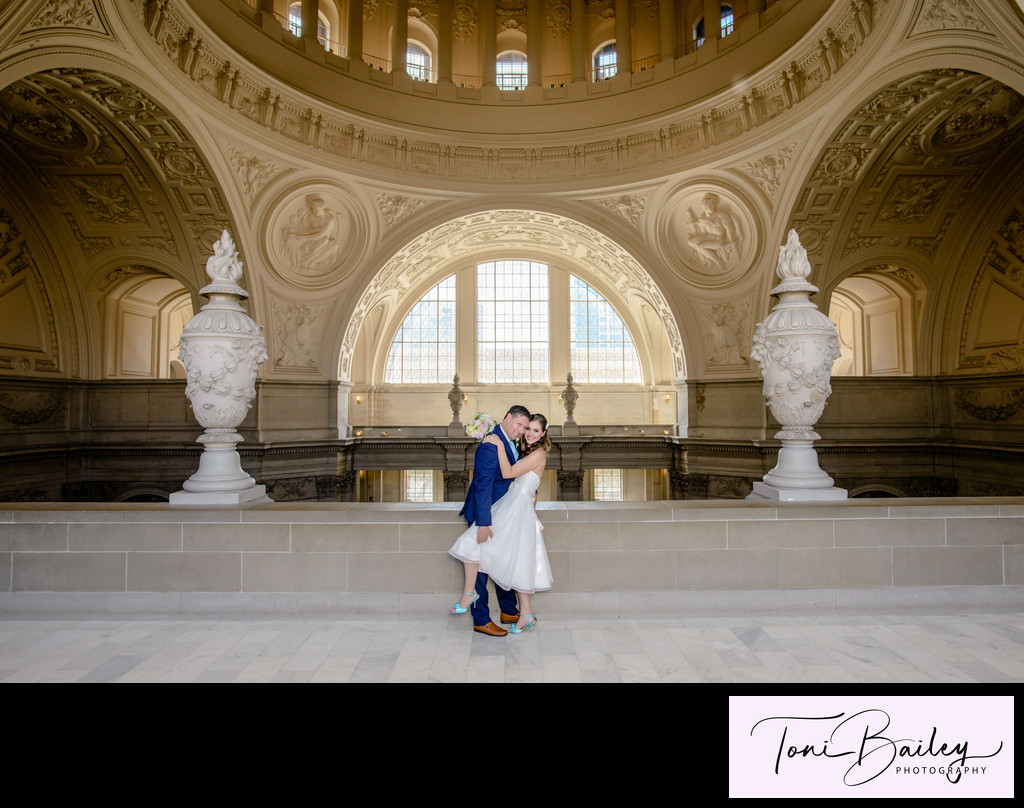 San Francisco City Hall Wedding Photography by Toni