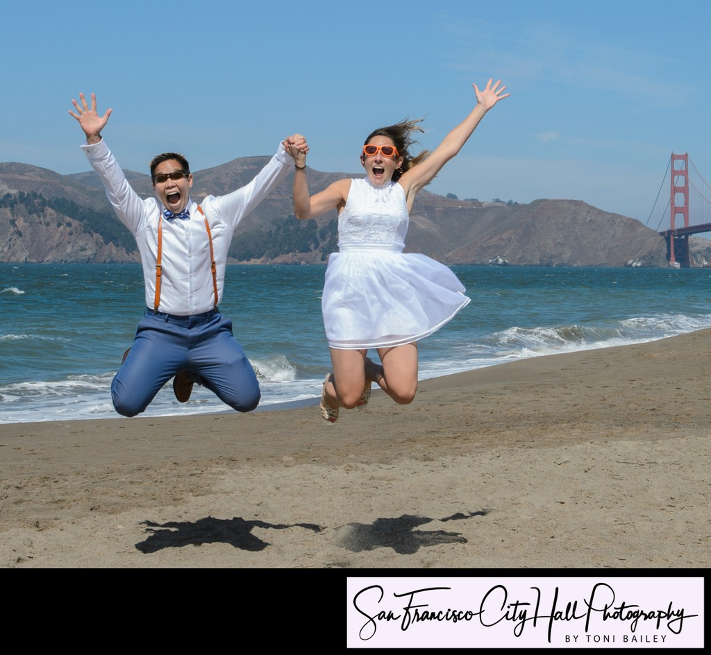 baker beach wedding photographer in San Francisco