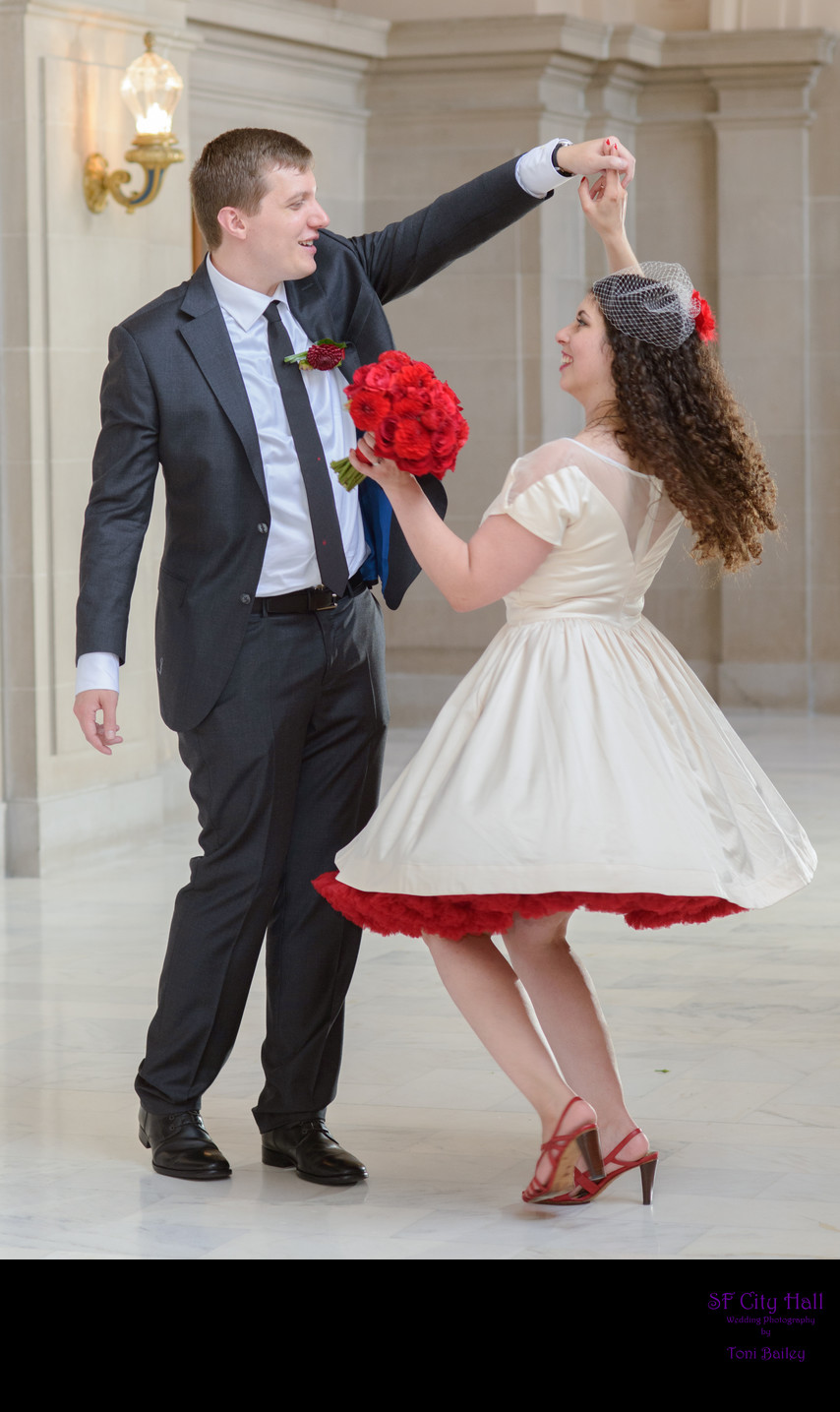 fun wedding twirl