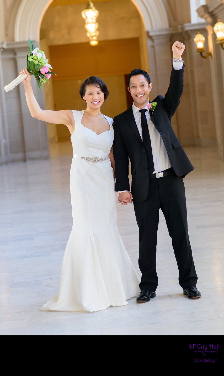 Congratulations at City Hall Wedding