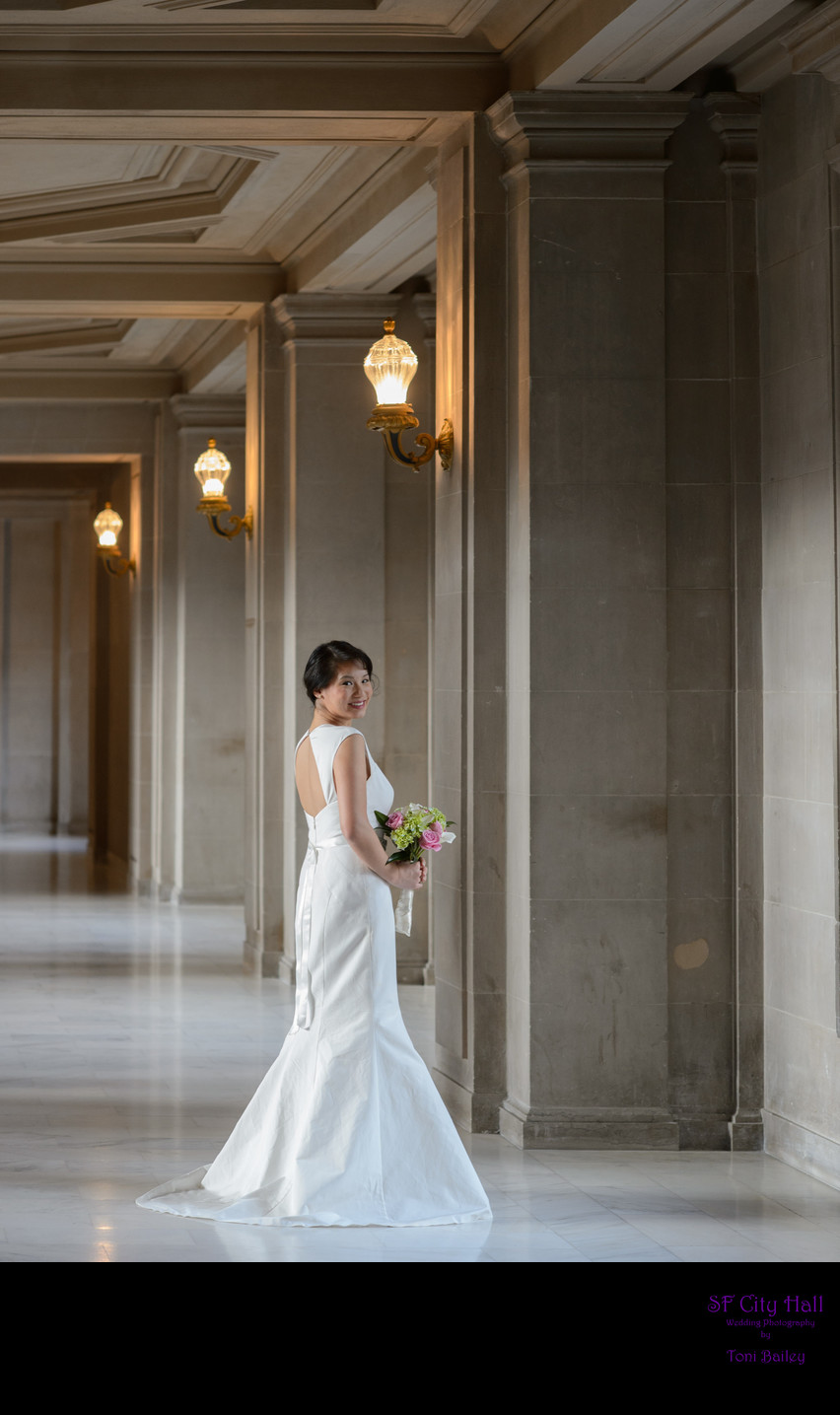 Lovely Bride at City Hall