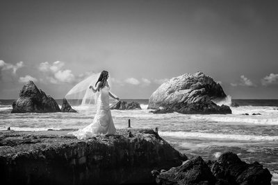 San Francisco City Hall Wedding Photography at Sutro Baths