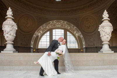 couple married at city hall architecture photo