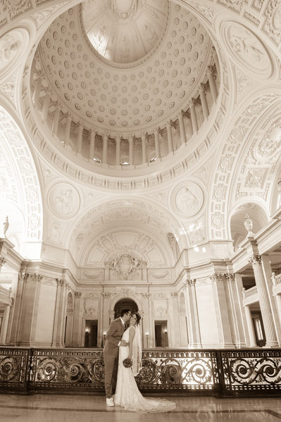 Grand rotunda sepia photo