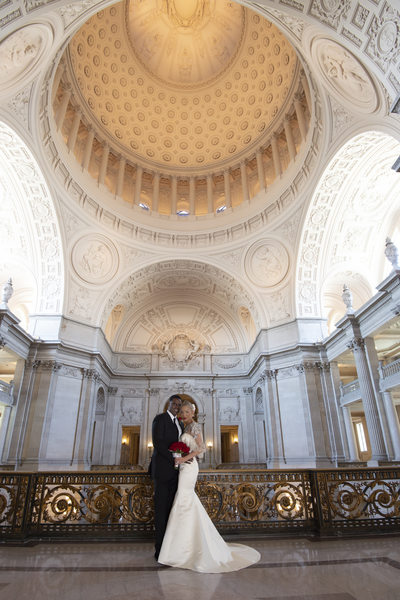 Mayor's Balcony San Francisco City Hall wedding