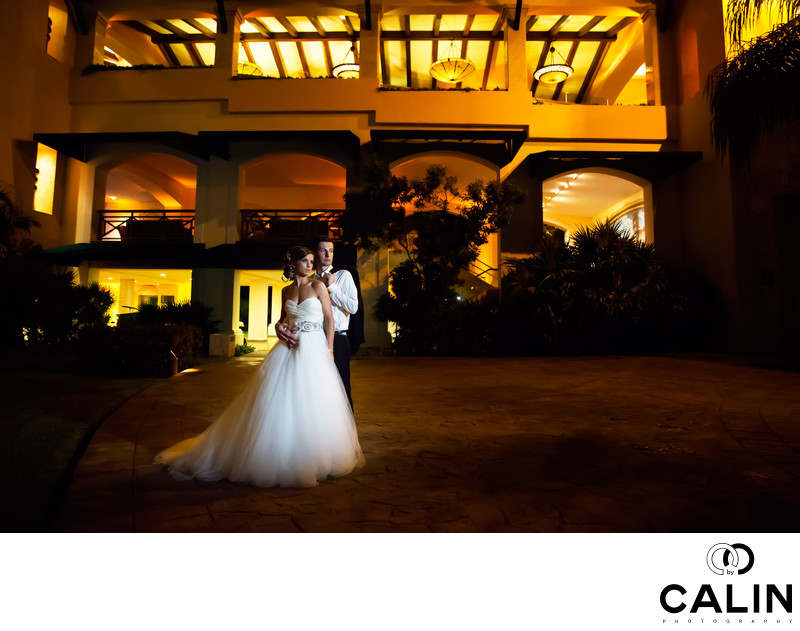 Environmental Portrait at Barcelo Maya Palace Wedding