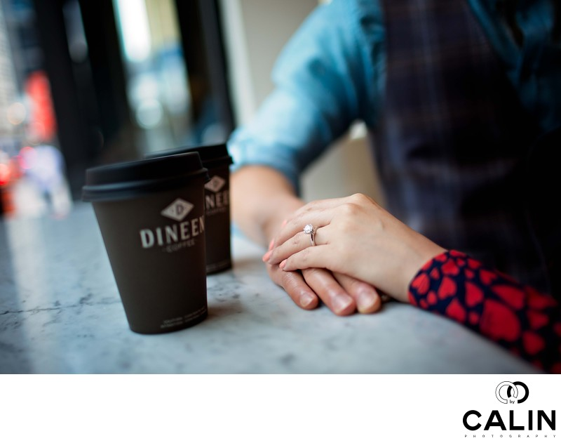 Engagement Photo of Couple Holding Hands
