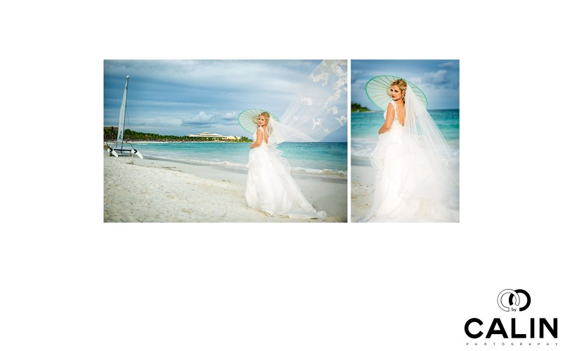 Bride at Barcelo Maya Palace Deluxe Wedding