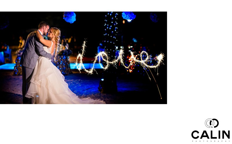 Love Sparklers at Barcelo Maya Palace Deluxe Wedding