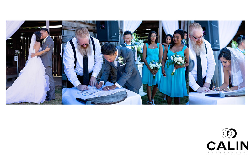 Registry Signing at Country Heritage Park Wedding