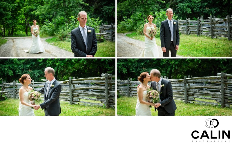 First Look at Pioneer Village wedding