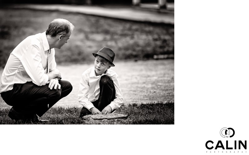 Groom and Son at Black Creek Pioneer Village wedding