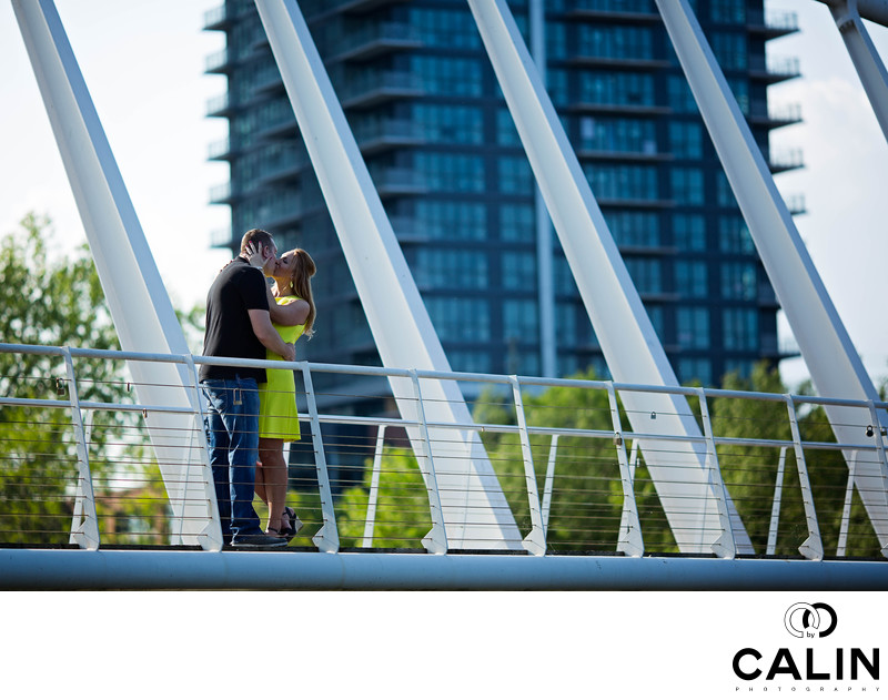 Engagement Photo on Humber Bay Bridge