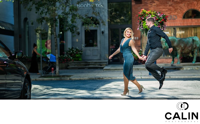 Fiance Jumps in Engagement Photo