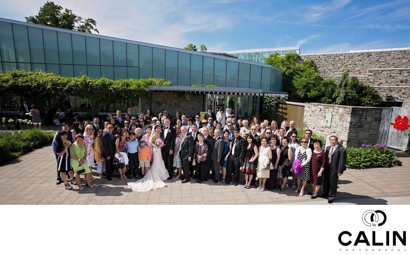 Toronto Botanical Garden Wedding Group Photo