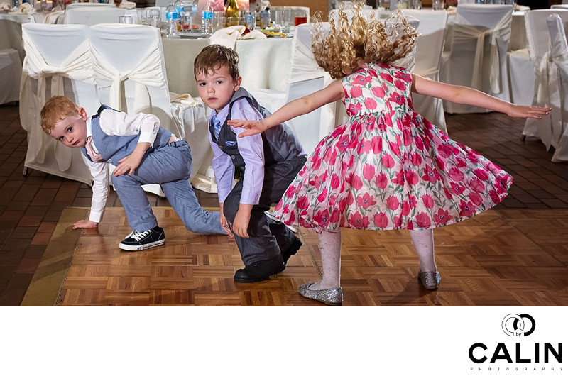 Children Have Fun at Toronto Botanical Garden Wedding