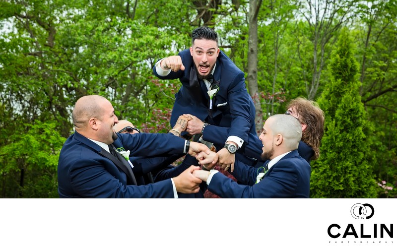 Groom is Thrown in the Air