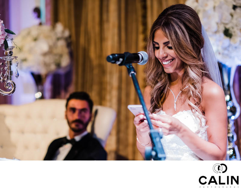 Bride's Speech at Liberty Grand Wedding