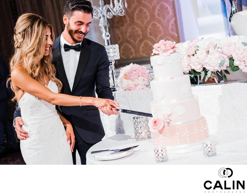 Cake Cutting at Liberty Grand Wedding
