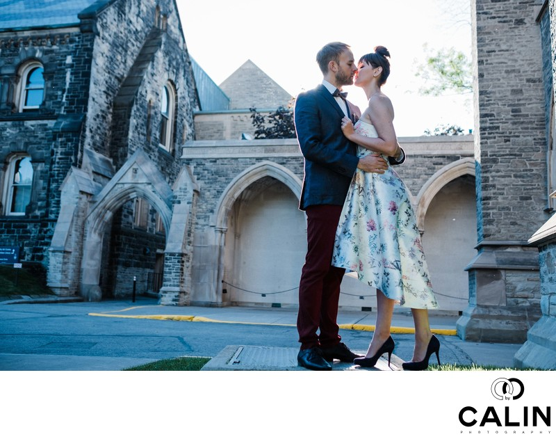 Romantic Engagement Photo at Hart House