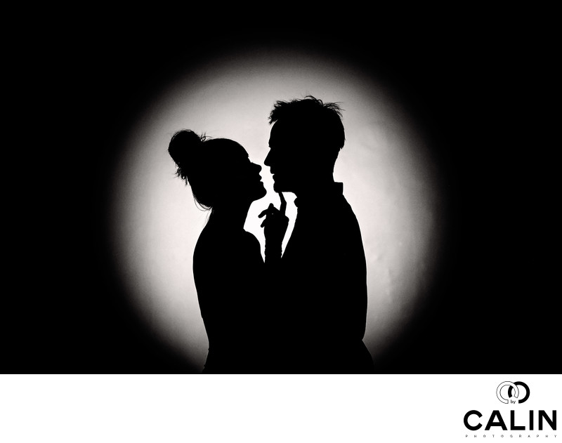 Silhouette of Engaged Couple at Hart House