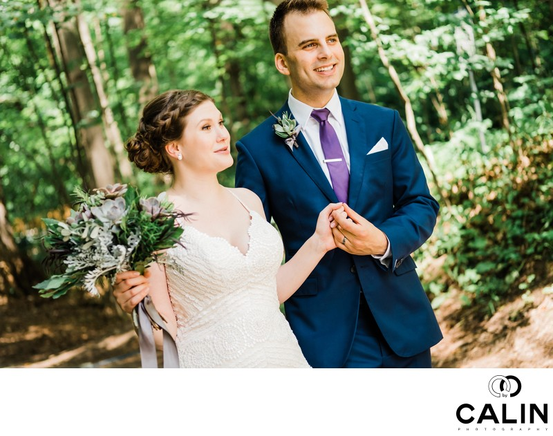 Newlyweds at Kortright Centre Wedding