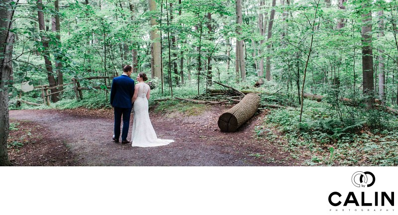 Panoramic Portrait of Newlyweds