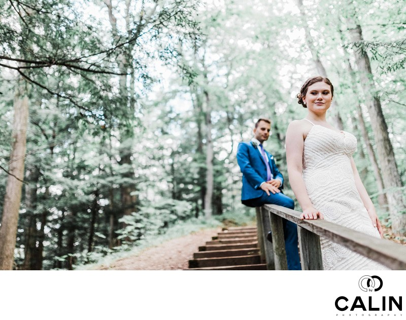 Environmental Portrait of Bride and Groom